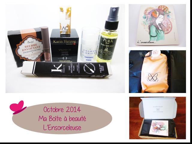 Ma Boîte à Beauté - Octobre 2014 - L'Ensorceleuse